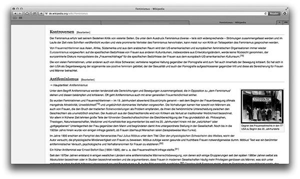 Mit den Kontroversen im Feminismus ließen sich Bände füllen. Bei Wikipedia gibt es nur drei kurze Absätze dazu.