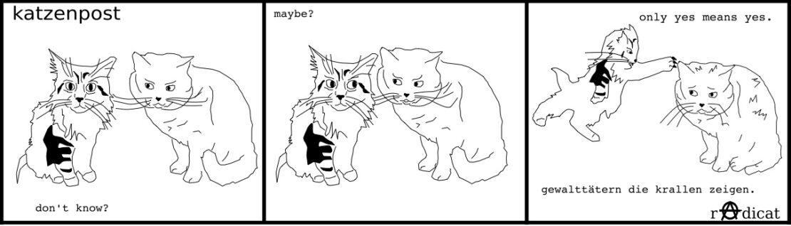 Katzenpost Gewalttätern die Krallen zeigen