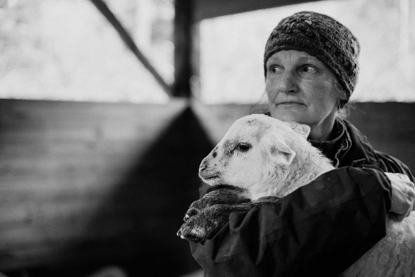 Lynn Swanson von der Glendale Shepherd Farm in Clinton, Washington © Audra Mulkern