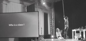 "MARIAJIKU888/Bondage Performance at ""queerograd 014 – Über die Haut"" © Kultur in Graz"