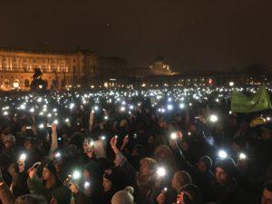 Am 13. Jänner demonstrierten in Wien Zehntausende gegen die Schwarz-Blaue Regierung. © Hanna Lichtenberger