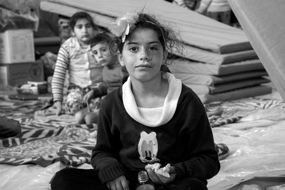 Geflüchtete Familie aus Afrin in einer UNHCR-Unterkunft © UNHCR/Hameed Maarouf