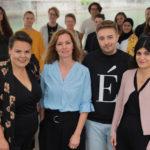 Lena Jäger (links außen) mit dem Frauen*Volksbegehren-Team © Carl Dewald